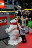 BEZOEKERS BIJ LEGO-WERELDmarkt 2017 Stock Afbeeldingen