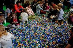 BEZOEKERS BIJ LEGO-WERELDmarkt 2017 Royalty-vrije Stock Fotografie
