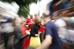 Bezoekers in 2012, Notting-Heuvel Carnaval Royalty-vrije Stock Foto