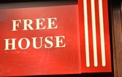 bezpłatnego domu znak niezwykły Zdjęcie Royalty Free
