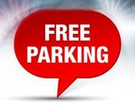 Bezpłatnego parking bąbla Czerwony tło zdjęcie stock