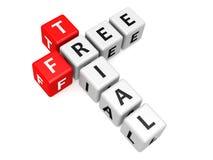 Bezpłatnej próby crossword Zdjęcia Royalty Free