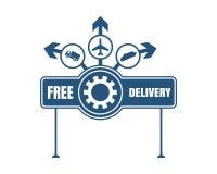Bezpłatny doręczeniowy emblemata projekt Zdjęcie Stock