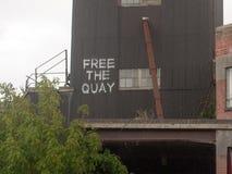 Bezpłatny quay kiści farby znak na doku w mistley Obrazy Royalty Free