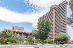 Bezpłatny stanu urzędu okręgowego budynek Du Plessis Th i Piasek Obraz Royalty Free