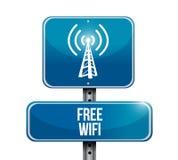 Bezpłatny wifi drogowego znaka ilustracyjny projekt Fotografia Stock