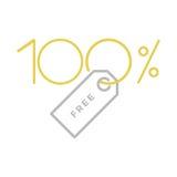 100% bezpłatna etykietka Obrazy Royalty Free