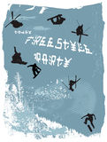 bezpłatna plakata stylu zima Obrazy Royalty Free