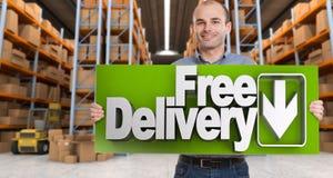 Bezpłatna dostawa, mężczyzna Fotografia Stock