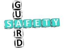 Bezpieczeństwa Strażowy Crossword Fotografia Royalty Free