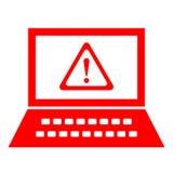 Bezpieczeństwa komputerowego ostrzeżenie Fotografia Stock