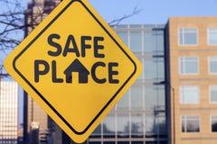 Bezpieczne Miejsce znak obraz stock