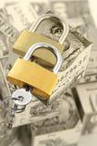 bezpieczne składowanie pieniądze Zdjęcie Royalty Free