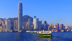 & bezpiecznej przystani & hongkongu widok Obrazy Stock