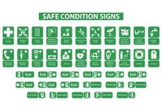 Bezpieczni warunków znaki Zdjęcia Stock