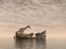 Bezpieczni zwierzęta - 3D odpłacają się Fotografia Royalty Free