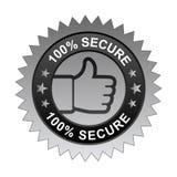 100% bezpiecznie etykietka royalty ilustracja