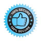100% bezpiecznie etykietka ilustracji