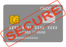 bezpiecznie pojęcie karciany kredyt Zdjęcia Royalty Free