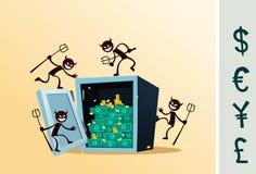 Bezpieczny depozytowy pudełko uszkadzający złodziejem Obrazy Stock