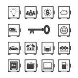 Bezpieczny ikona set Zdjęcia Stock