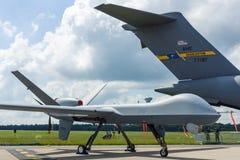 Bezpilotowa bojowa lotniczego pojazdu generała Atomics MQ-9 żniwiarka Obrazy Stock