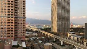 Bezpilotowy pociąg, Kobe, Japonia zbiory wideo