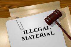 Bezprawny materiał - legalny pojęcie royalty ilustracja