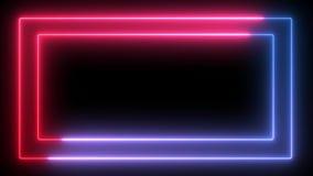 Bezproblemowa ramka neonowa zbiory wideo