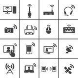 Bezprzewodowa & Komunikacyjna ikona Obrazy Stock