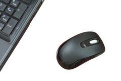 Bezprzewodowa mysz odizolowywająca na białym tle fotografia stock