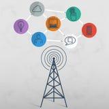 Bezprzewodowa sieci przesyłania danych technologia royalty ilustracja