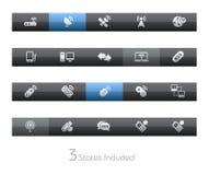 bezprzewodowe blackbar teletechniczne serie ilustracji