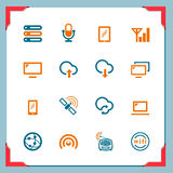 bezprzewodowe ikon ramowe serie Obrazy Stock