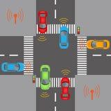 Bezprzewodowe pojazd komunikacje Fotografia Stock