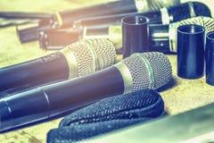 Bezprzewodowego mikrofonu Stażowa konferencja obraz royalty free