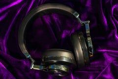 Bezprzewodowi bluetooth podróży hełmofony Zdjęcie Royalty Free