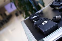 Bezprzewodowy mikrofon lavalier fotografia stock