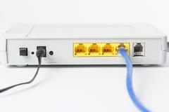 Bezprzewodowy modemu routera sieci centrum Zdjęcia Stock
