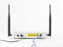 Bezprzewodowy modemu routera sieci centrum Zdjęcia Royalty Free