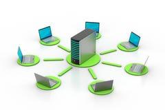 Bezprzewodowy networking system Obrazy Royalty Free