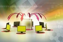 Bezprzewodowy networking system royalty ilustracja