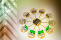 Bezprzewodowy networking system Zdjęcia Stock