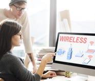 Bezprzewodowy Podłączeniowy Internetowy modem sieci pojęcie obraz royalty free