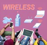 Bezprzewodowy Podłączeniowy Internetowy modem sieci pojęcie zdjęcia royalty free