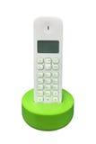 Bezprzewodowy telefon odizolowywający na białym tle obrazy stock