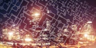 Bezprzewodowy związku lub networking pojęcie jak sposoby communicat Zdjęcia Stock