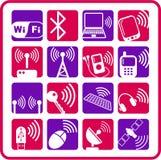bezprzewodowych ikony Fotografia Stock