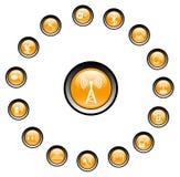bezprzewodowych ikony Zdjęcia Royalty Free