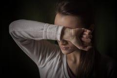 Bezradna kobieta Zdjęcie Stock